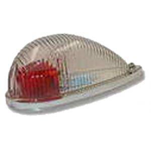 Corpo lampada navig. profilato con lente di Fresnel-Rossa
