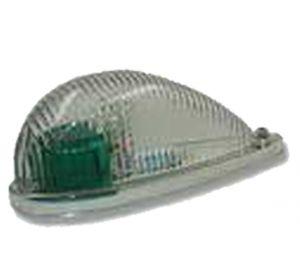 Corpo lampada navig. profilato con lente di Fresnel-Verde