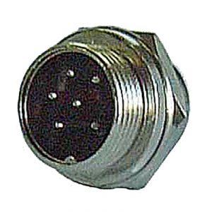Connettore BF circolare con ghiera a vite MASCHIO da pannello - 6 poli