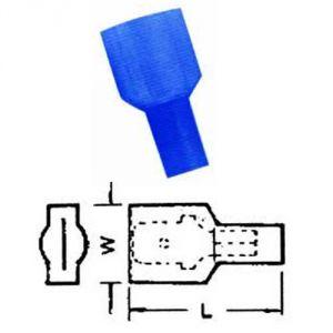 Faston 6,3 isolato BLU - maschio