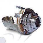 Presa alt. 6,3mm da pannello 2 poli mono per PJ-055