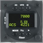 TRT800H-OLED Transponder Mode A/C/S, class 1, 57mm housing, OLED display