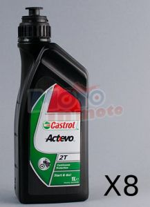 Kit Tagliando 8 LT Olio Castrol Actevo 2T