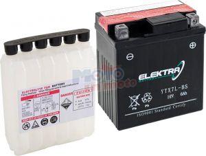 BATTERIA ELEKTRA YTX7L-BS PER HONDA NES Chiocciola (KF03) 150 2000-2006 12V 6 Ah CON ACIDO
