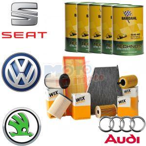 Kit Tagliando Olio Bardahl & Filtri Seat Leon 1.9