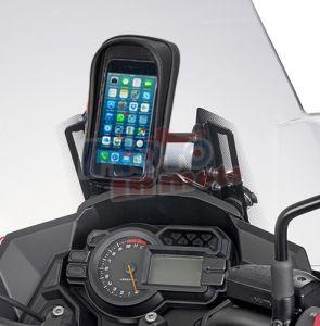 Traversino Givi con portasmartphone S956 Kawasaki Versys 1000 2017