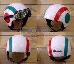 Casco vintage mod. Italy cerchi in ecopelle omologato per Vespa