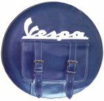 Copriruota in ecopelle con scritta Vespa e tasca unica centrale