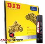 Kit trasmissione DID con Grasso Catena Motul C2 per Honda Transalp XL 650V '00-'07