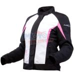Jacket donna Lady Laurene antipioggia waterproof Nero Bianco Fucsia