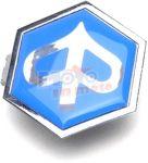 TARGHETTA stemma esagonale calandrina anteriore PIAGGIO PX - LML star