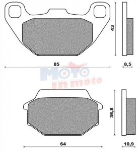 Brake pads eco friction