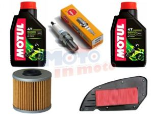 Maintenance oil & air filter & spark plug