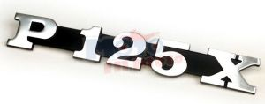 Targhetta P125X for laterale