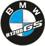 Adesivo resinato tondo BMW R1200 gs Ø 4,5 cm