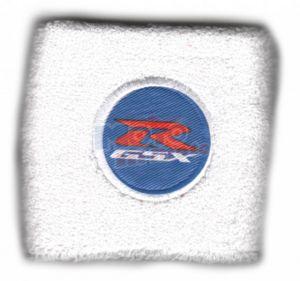 Polsino GSX-R logo bianco su azzurro piccolo