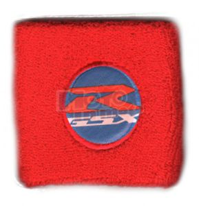 Polsino GSX-R logo bianco su azzurro grande
