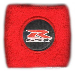 Polsino GSX-R logo nero su nero piccolo