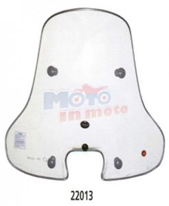Windshield with fitting kit