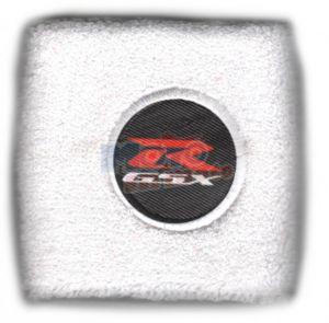 Polsino GSX-R logo bianco su nero piccolo