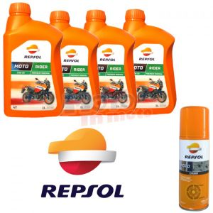 Maintenance Repsol Rider Oil 15w50 with Chain Lube