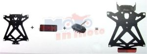Kit license plate regolabile with catadiottro e luce targa LED