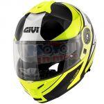 Casco modulare x21 challenger globe nero lucido giallo fluo