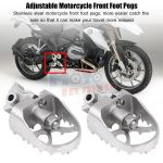 Tilt Angle Adjustable Motorcycle Front Footrest Foot Pegs Stainless Steel for BMW R1200GS LC 2013-20