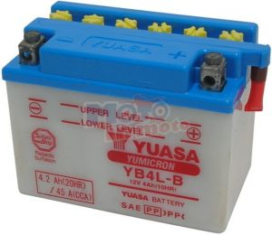 Battery YB4L-B 12V 4Ah with acido a corredo