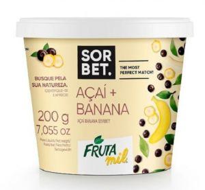 Acai Banana Sorbet 200 g - Açaí con Guaraná e Banana