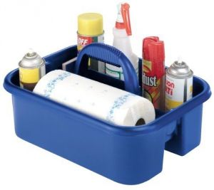 Akro-Mils 09185 BLUE Plastic Tote Caddy
