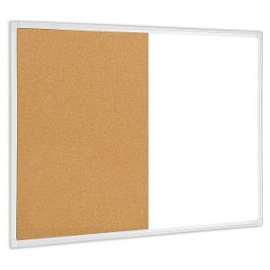 Bi-Office Magnetic Dry-Erase and Cork Surface Combo Board