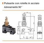 FINE CORSA ERSCE MOD. M3-06 rotella 90° due contatti  1NO+1NC 230V 10A