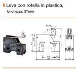 FINE CORSA ERSCE MOD. M3-13 leva con rotella L. 37.0mm contatti 1NO+1NC 230V 10A