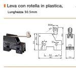 FINE CORSA ERSCE MOD. M3-14 leva con rotella L. 50.5mm contatti 1NO+1NC 230V 10A