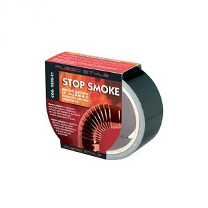 STOP SMOKE! NASTRO ADESIVO IN ALLUMINIO NERO 50mm