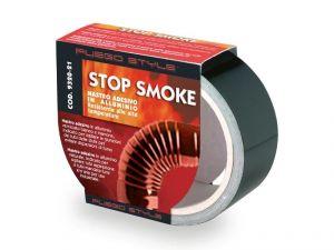 STOP SMOKE! NASTRO ADESIVO IN ALLUMINIO NERO 25mm