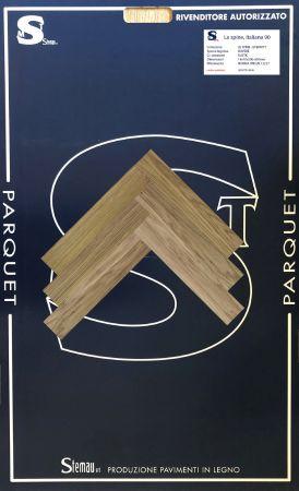 ROVERE ITALY SPINA TAGLIO A 90° RUSTIC LISTONCINO CLASSIC 14x70x500-600 mm