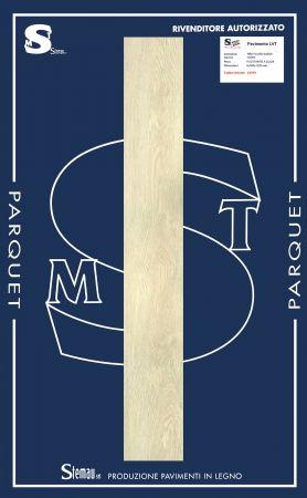 LVT (LUXURY VINYL TILES) A CLICK DECORO IVORY LISTONE MAXI 4x180x1220 mm