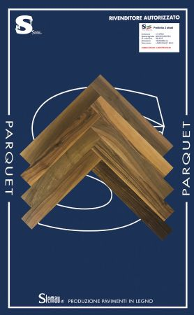 NOCE EUROPEO SPINA TAGLIO A 90° SELECT LAMPARQUET MAXI 10x90x600 mm