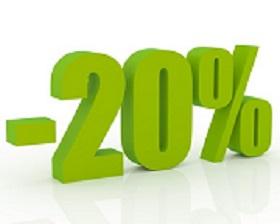 SCONTO 20%
