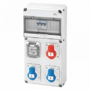 Q-DIN 10 ASD:3PR.IEC309, 1PR.CIV.IP44