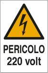 CARTELLO ADESIVO CM 12X8 PERICOLO 230 VOLT