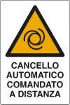 CARTELLO ADESIVO CM 12X8 CANCELLO AUTOMATICO