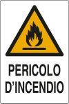 CARTELLO ADESIVO CM 12X8 PERICOLO D'INCENDIO
