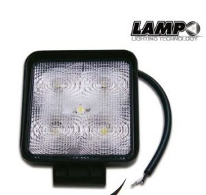 FARETTO LED 12-24V 15W NERO IP67 6400K