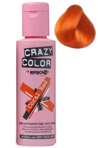 CRAZY COLOR Coral Red 100 ml