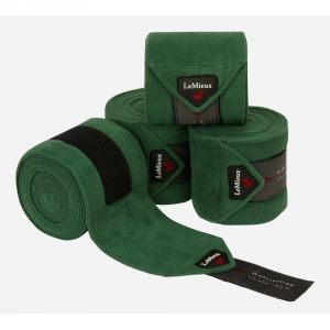 Loire Satin Polo Bandages Hunter Green
