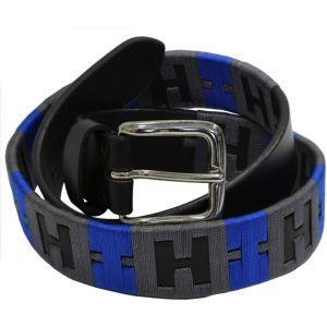 Cintura Cover in cuoio nera-royal-grey