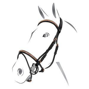 Briglia Equestro mod. Clincher Rose Gold senza redini